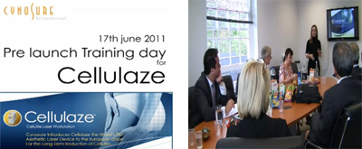 June 2011 - Pre-launch conference for Cellulaze laser, UK